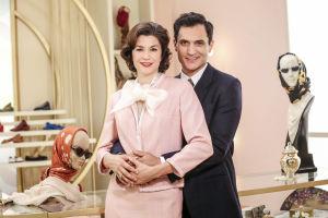 Andreina Mandelli (Alice Torriani) ja Vittorio Conti (Alessandro Tersigni) sarjassa Milanon naisten paratiisi