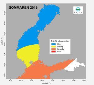 Karta med algblomning.