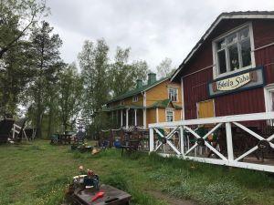 Kahvila Sahan pihapiiri Kokkolan Ykspihlajassa