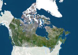 Kanadan kartta stelliittikuvasta