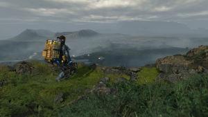 Death Stranding -videopelin vuoristomaisemia.