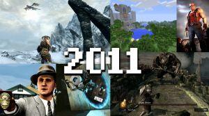 Ett kollage med Skyrim, L.A. Noire, Portal 2, Minecraft, Duke Nukem och Dark Souls.