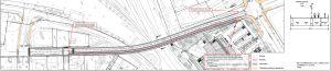 En karta som visar hur en järnvägsbro kunde se ut och byggas.