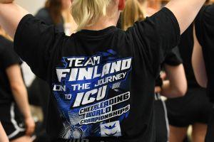 Cheerleadingskjorta med VM-motiv.