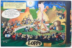 Asterix ja rahapata (juhlat tulen äärellä).