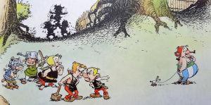 Asterix ja Obelix lapsina.