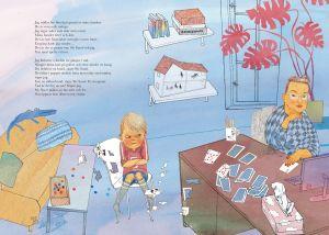 """Illustration ur bilderboken """"Min svarta hund"""" av Sanna Tahvanainen och Jenny Lucander."""