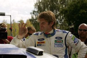 Marcus Grönholms Ford fungerade i Jyväskylärallyt 2006.