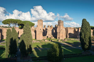 Vy över Caracallas termer i Rom