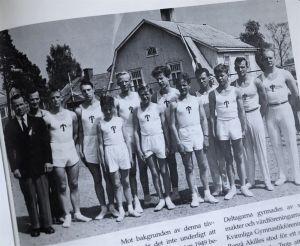 Eugen Ekman och Vasa IS gymnaster i Mariehamn 1956