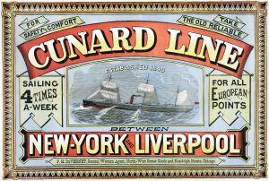 Reklamposter för Cunard Line.