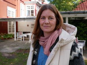 Porträtt på Jannie Møller Hartley.