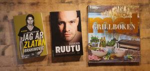 Böckerna Jag är Zlatan, Jarkko Ruutus biografi och Grillboken - Allt om mat