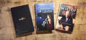 Böckerna Tenorens dotter av Staffan Bruun Anders Wiklöf, murarens son av Staffan Bruun och Helikopterrånet av Jonas Bonnier.
