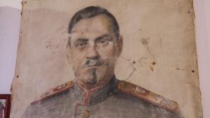 porträtt på sovjetisk militär