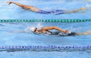 Laura Salminen simmar i VM i Mexico 2018.