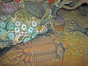 Konstnärens vision av livet i det devonska havet.