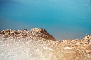 del av klippa och vatten