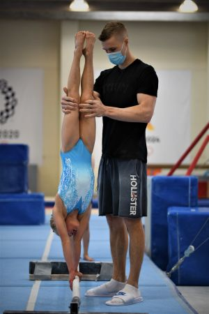 Heikki Niva och hans adept Nadine Tieva.