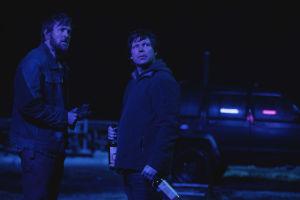 """På bilden syns skådespelarna Tobias Santelmann och Eero Milonoff i serien """"Welcome to Utmark""""."""