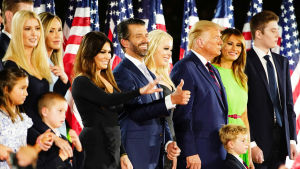 Familjen Trump under republikanernas partikonvent 2020.