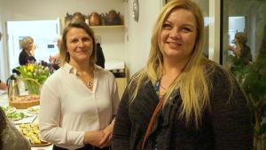 Marika Lassfolk och Cecilia Åminne.