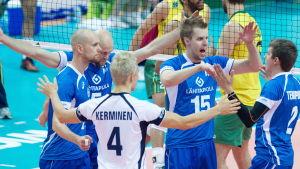 Finland tog sig vidare från gruppspelet vid VM i volleyboll.