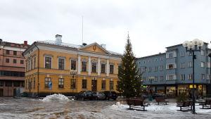 Rådhuset vid Mannerheimplatsen i Karleby.