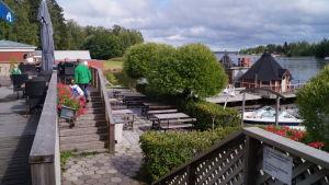 Standis vid Storströmmen i Larsmo.