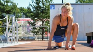Fanny Teijonsalo tränar i Alberga.