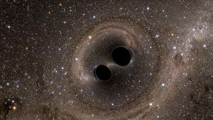 Två svarta hål.