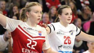 Jessika Gammals och Ida Väyrynen.