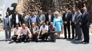 Sonja med fängelsedirektörer från Basraregionen i Irak.