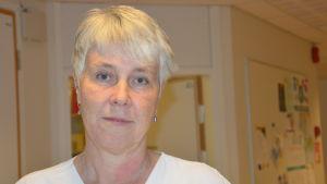 Avdelingsskötare Agneta Westerlund vid VNS.