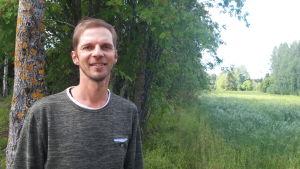 André Forsström vid Emmes i Nedervetil.