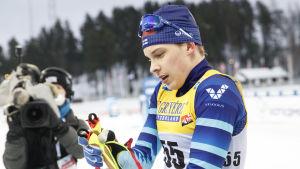 Alexander Ståhlberg efter världscupen i Lahtis 2021.