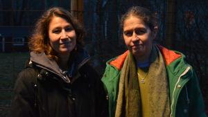 Audelina Ahumada och Helena Thorström