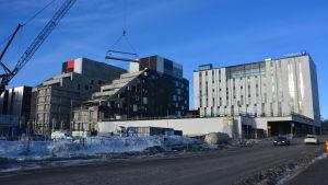 Åbo yrkeshögskolas nybygge pågår.