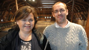 Diana Nyberg-Lindholm och Pontus Berglund från Slow Food Västnyland