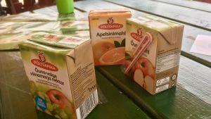 Juice i engångspaket för barn