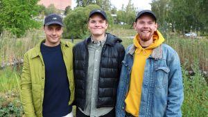 "Bernhard ""Bamse"" Forsten, Linus ""Limppu"" Lehto och Eddie Myrskog."
