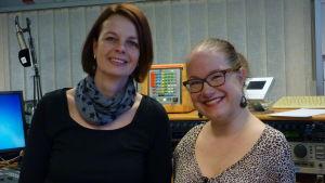 Pia Lagus och Lena Maria Klingvall i Österbottnisk förmiddag