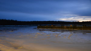Isläget vid Vallgrund i Korsholm.