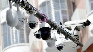 Övervakningskameror i Chenzhou i Kina.
