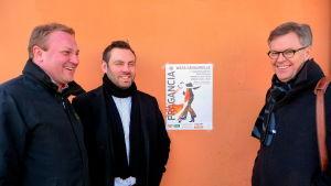 Max Jansson, Karl-Magnus Stenström och Stefan Wikman