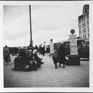 Näkymä Viipurin linja-autoasemalta