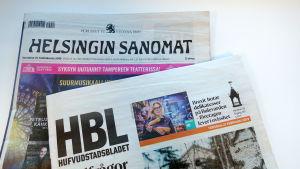 Hufvudstadsbladet och Helsingin sanomat