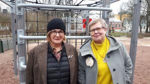 Pia Maria Ahlbäck och Mia Österlund.