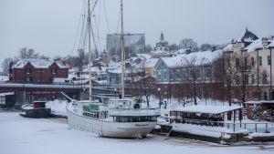 Snövy över Borgå.