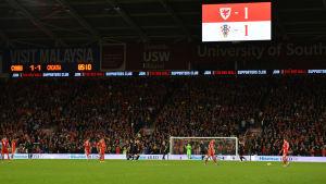 I söndags spelade Wales och Kroatien oavgjort, 1–1.